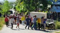 Waduh, Ratusan Orang di Jeneponto Bongkar Paksa Peti Jenazah Pasien Corona, Petugas Tak Berdaya