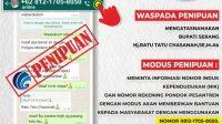 Hati-Hati! Beredar Nomor Whatsapp Palsu Bupati Serang Ratu Tatu Chasanah