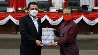 Gubernur Sampaikan Nota Keuangan dan Ranperda APBDP 2021 Kepada DPRD